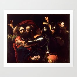 The Taking of Christ by Caravaggio (1602) Art Print