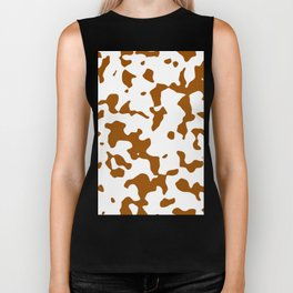 Large Spots - White and Brown Biker Tank