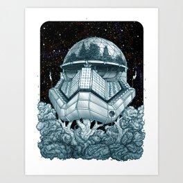 Stormtrooper Treehouse Art Print