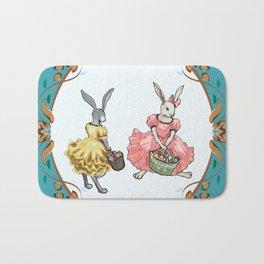 Dressed Easter bunnies 2a Bath Mat