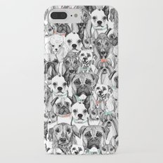 just dogs coral mint iPhone 7 Plus Slim Case