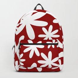 Tiare Flower Red Backpack