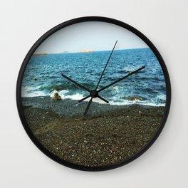 Ocean Kissing the Shore Wall Clock