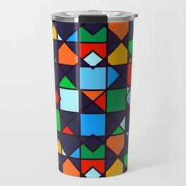 Bright, Bold & Colorful Geometric Architectural Design Pattern Travel Mug