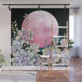 succulent full moon 3 Wall Mural