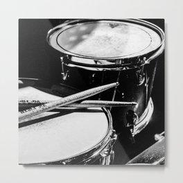 drums music aesthetic close up elegant mood art photography  Metal Print