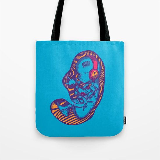 Neon Party Fetus  Tote Bag