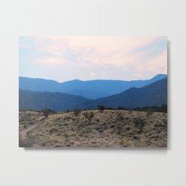 Sandia Mountain Southwest Hue Metal Print