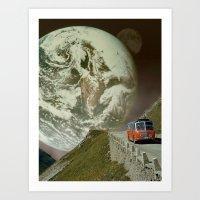 """Driving Away"" Art Print"