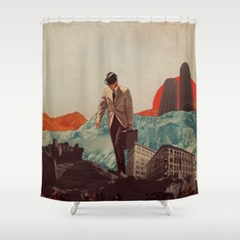 Leaving Their Cities Behind Shower Curtain