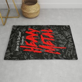 Woke Up To The Sweet Sound Of HEAVY METAL Rug