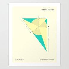 Heron's Formula Art Print