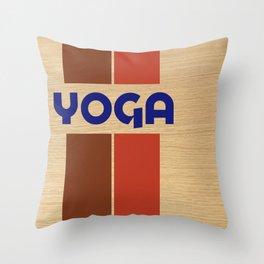 YOGA - jamón Throw Pillow