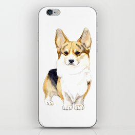 Corgi portret iPhone Skin