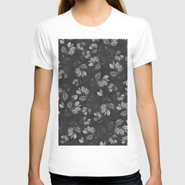 Black and White Leaves Pattern #1 T-shirt