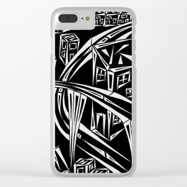 Town Circled By Roads Inverted Clear iPhone Case