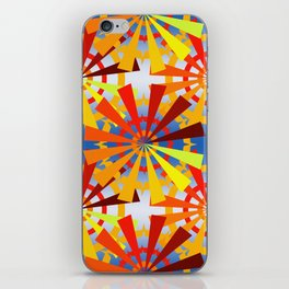 colorful gear wheels iPhone Skin