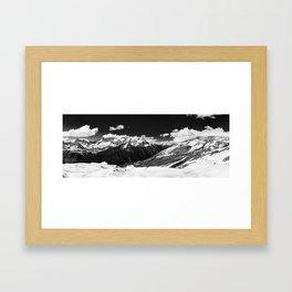 Switzerland - Panorama 3 BW (RR69) Framed Art Print