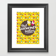 That summer feeling Framed Art Print
