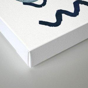 Against the Current - Maritime Simple Fish Design Canvas Print