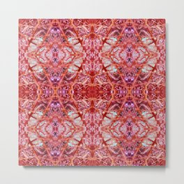 114- Large red and purple pattern Metal Print
