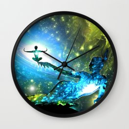 A Bright Embrace Wall Clock