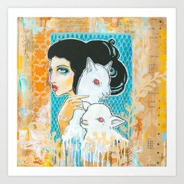 Two and a Lamb Art Print
