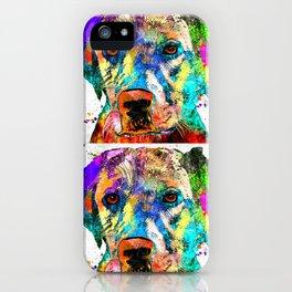 Labrador Retriever Grunge iPhone Case