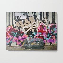 A New London graffiti urban wall photo Metal Print