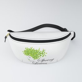 Mother nature with green leaves of spring as her hair- earth day Fanny Pack