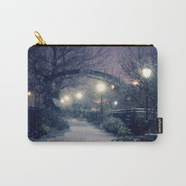Winter Garden in the Snow Carry-All Pouch