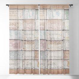 Wine Cork Trivet Sheer Curtain