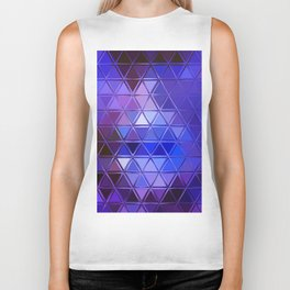 ultra violet and blue triangles Biker Tank