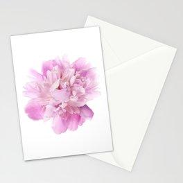 Bombshell Peony - Modern minimalist flower photo Stationery Cards