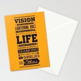 Lab No. 4 Vision Does Usually Dr. Michael Norwood Life Motivational Quotes Stationery Cards