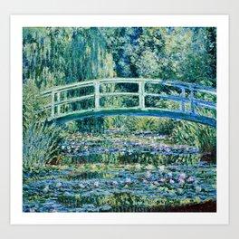 Claude Monet - Water Lilies And Japanese Bridge Kunstdrucke