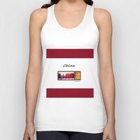 china Tank Tops featuring China by L Bove Art