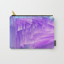 Flame - Pixel sort purple Carry-All Pouch
