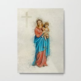Virgin Mary And Jesus Metal Print