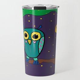 Artsyfartsy: Owl Travel Mug