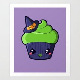 Spooky Cupcake - Wicked Witch Art Print