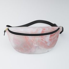 Shabby Chic Pink Pastel Baby Pink Peonies Fanny Pack
