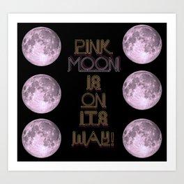 pink moon. Art Print