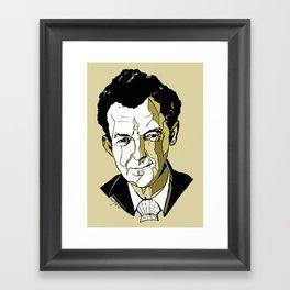 Composer Benjamin Britten Aldeburgh Southwold Beach British English Music Musician UK England Framed Art Print