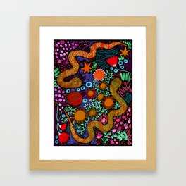 Two Snakes. Just Two Snakes. Framed Art Print