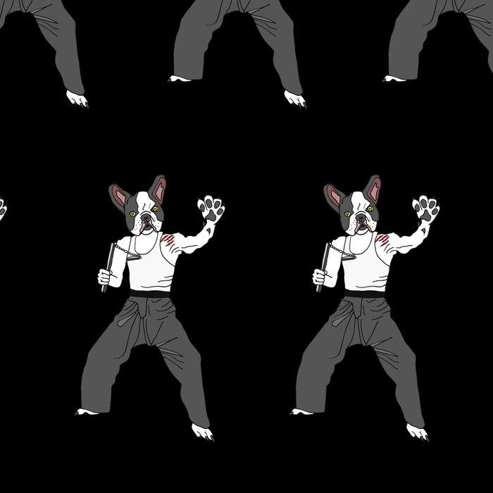 Kungfu Bulldog Lee Leggings
