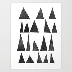 Mountains and Triangles Art Print