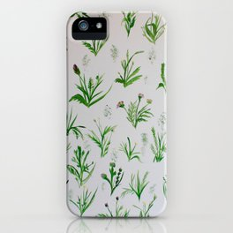 Various Plants and Weeds iPhone Case