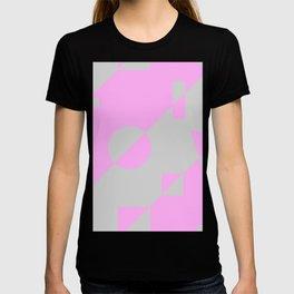 80s Throwback Pink and Grey Geometric Leotard Retro Pattern T-shirt