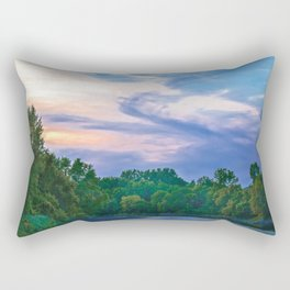 Little Racoon River Rectangular Pillow